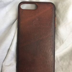 Aged Leather Authentic Apple Phone case 7/8+